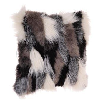 Housse de coussin pils longs camaieu de gris