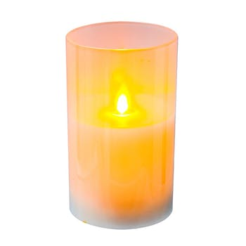 Bougie blanche flamme LED 12,5 cm