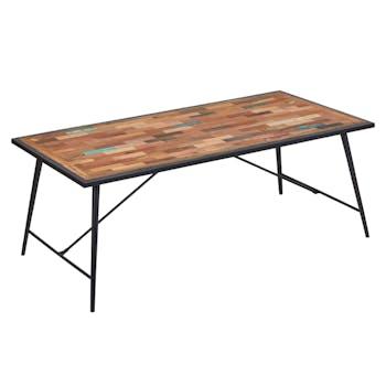 Table 10 personnes 200x100 bois recyclé DRAKKAR