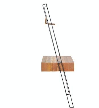 Etagère échelle bois reyclé 1 caisson SAMPAN