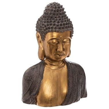 Buste de bouddha doré h 41 cm