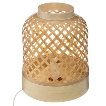 Lampe à poser à croisillons en bambou 30 cm
