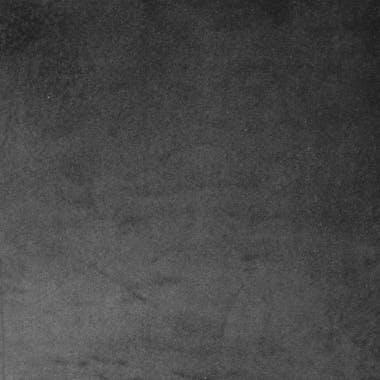 Chaise Médaillon en velours gris