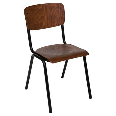 Chaise d'écolier vintage marron VARSOVIE