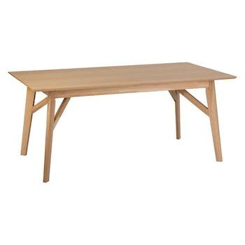 Table à manger extensible 180/260 cm en bois GOTEBORG