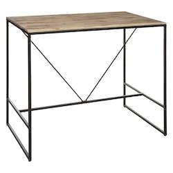 Table bar en acacia et métal MEMPHIS