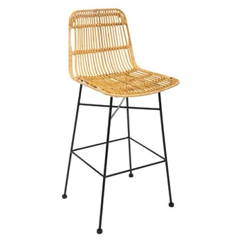 Chaise de bar en rattan naturel