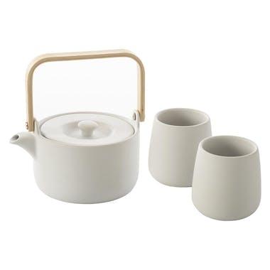 Théière 50cl + 2 mugs 20cl blancs