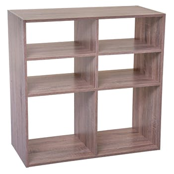 Etagère en bois naturel 6 casiers 67 cm