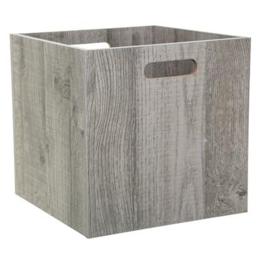 Boite de rangement en bois grisé 31 cm