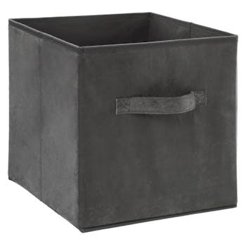 Panier de rangement velours gris foncé 31 cm