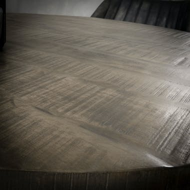 Table à manger ronde 120cm manguier LUCKNOW