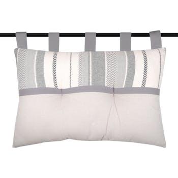 Tête de lit à bandes grises 45 x 70 cm