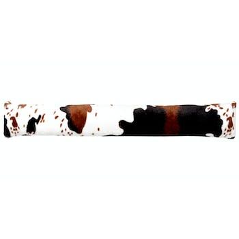 Coussin bas de porte motif vache 90 cm
