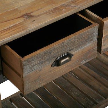 Console 3 tiroirs bois de sapin ATELIER