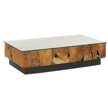 Table basse racine de teck ONTARIO