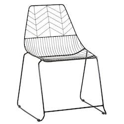 Chaise noire graphique en métal VULCAN (lot de 2)
