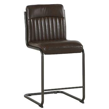 Chaise de bar havane EPIKA (lot de 2)