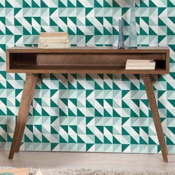 Console vintage bois couleur cannelle 1 niche 115X30X81cm FANNY