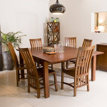 Table repas + allonge 140/190 x 140 cm LOLA