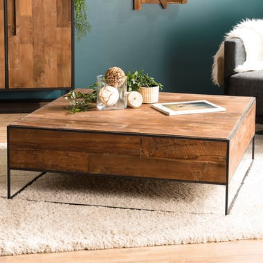 Table basse carrée style atelier SWING