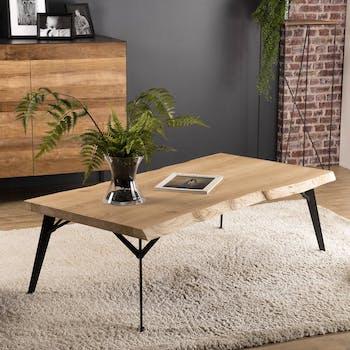 Table basse rectangulaire bois de chêne PANAMA