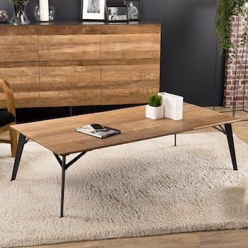 Table basse rectangulaire teck recyclé PANAMA