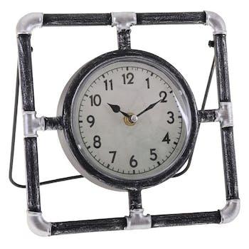 Horloge à poser tubes industriels