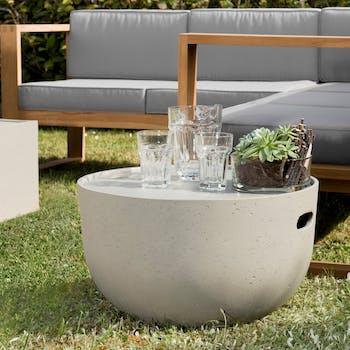 Table basse jardin avec rangement SUMMER