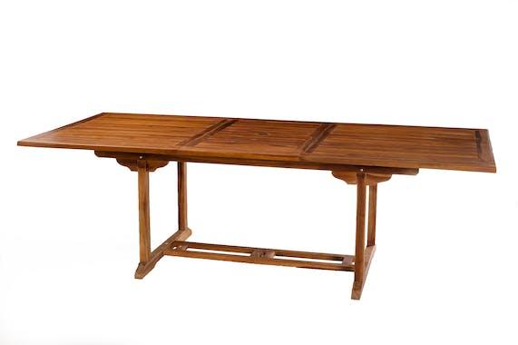 Table de jardin en teck huilé rectangle extensible 180/240x100x75 MACAO