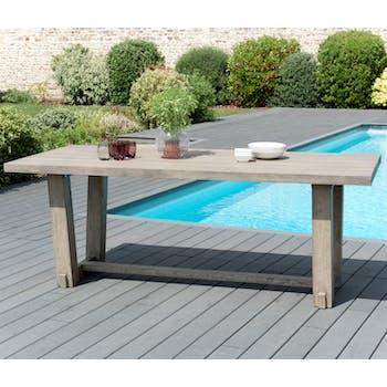 Table de Jardin Teck 200x90cm DETROIT ref. 30020815