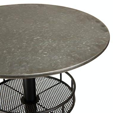 Table bistrot ronde zinc métal BOSTON