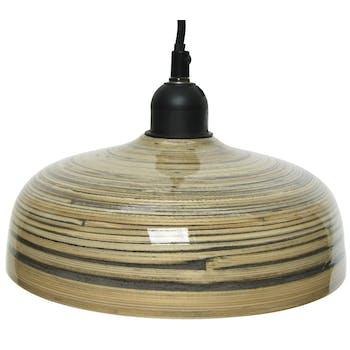 Suspension bambou stries 22 cm
