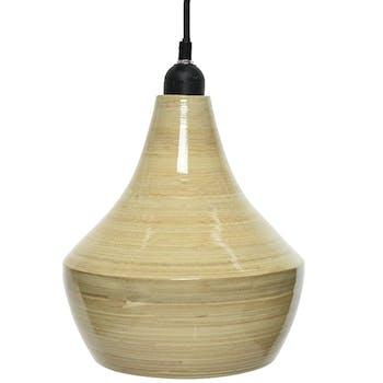Suspension bambou forme poire 22 cm