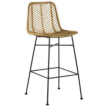 Chaise de bar rotin pieds métal CANADA