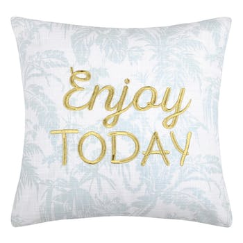 "Coussin ""Enjoy today"" 40x40"