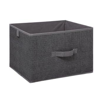 Boîte de rangement GM gris foncé