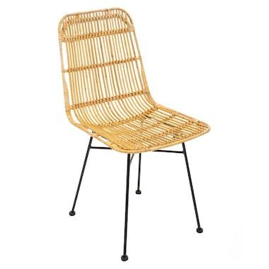 Chaise en rattan naturel