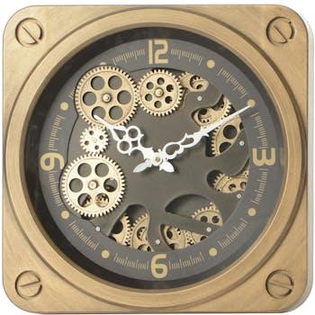 Horloge dorée mécansimes