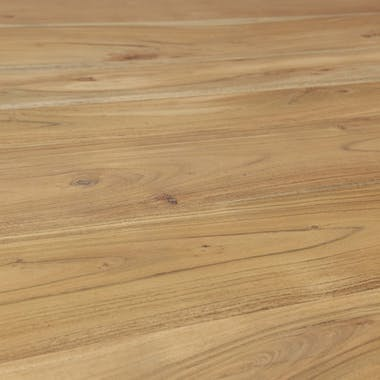Table à manger ronde bois d'acacia inox noir brossé D120 MELBOURNE