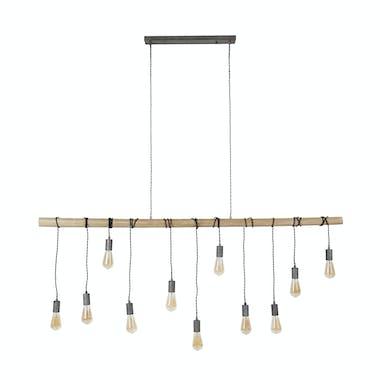 Suspension bambou 11 lampes