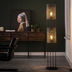 Lampadaire moderne 2 lampes effet maille TRIBECA