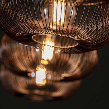 Suspension contemporaine 4 lampes style disques RALF