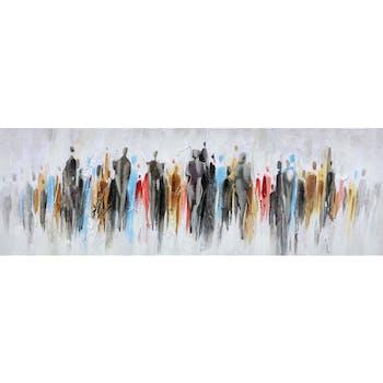 Tableau silhouettes multicolores métal