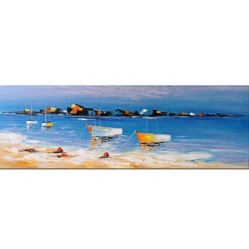 Tableau bord de mer plage