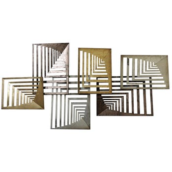 Décoration murale design rectangles en perspective