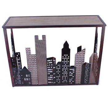 Console d'entrée verre métal buildings HIMALAYA