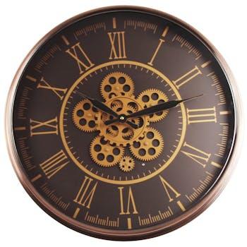 Horloge murale vintage cuivrée