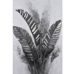Tableau nature feuilles grises