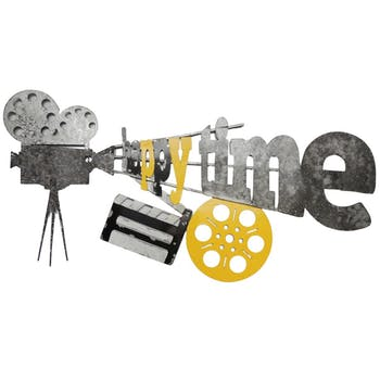 Décoration murale métal thème cinéma version 3